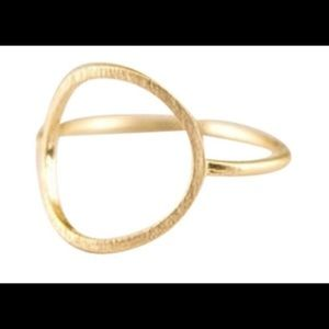 Gold plated delicate minimal karma circle ring.